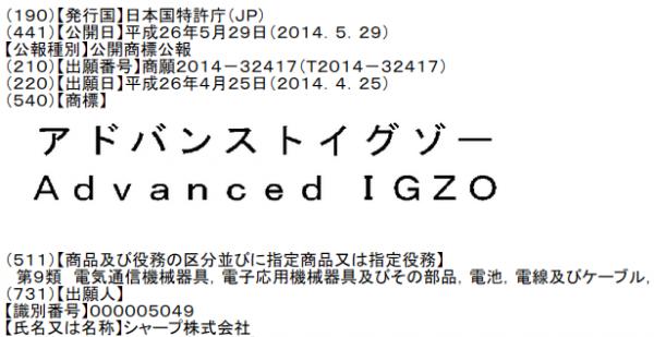 アドバンスト イグゾー Advanced IGZO