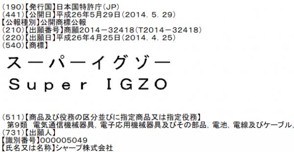 スーパーイグゾー Super IGZO