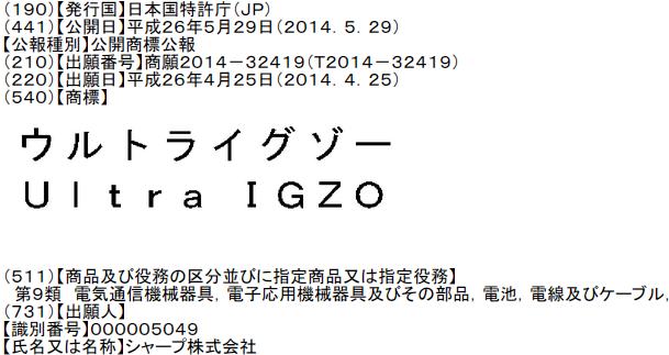 ウルトライグゾー Ultra IGZO