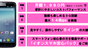 イオン、コンビニでも購入可能なイオンスマホ第2弾「FXC-5A」を発売 月額1980円から