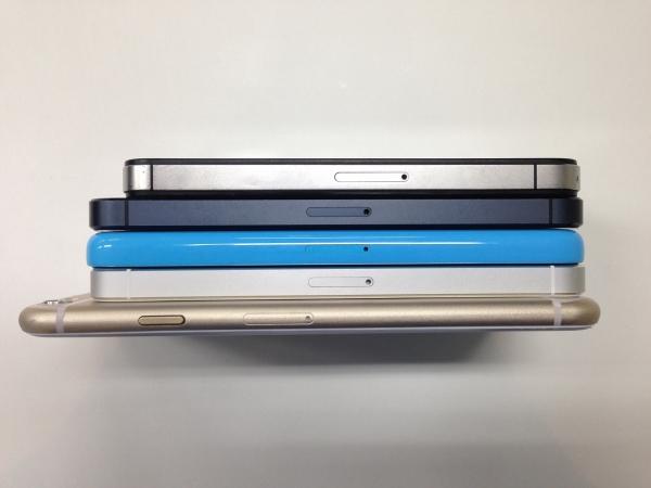 iPhoneと過去iPhoneの比較 側面02
