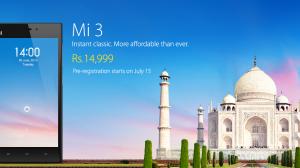 中国のスマホメーカー「小米科技(Xiaomi)」、インドで「Mi3」を発表 ーインド市場に参入