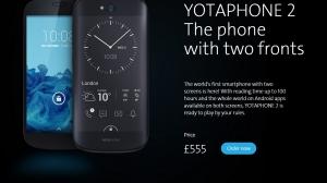 ロシアYota、背面にE-inkディスプレイ搭載の両面スマートフォン「YotaPhone 2」を発表