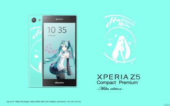中国の初音ミクファンが作成?「Xperia Z5 Compact Premium -Miku edition-」の画像が出まわる