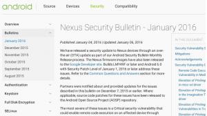Android月例セキュリティアップデート(2016年1月)がリリース、「Mediaserverにおけるリモートコード実行の脆弱性の修正」他