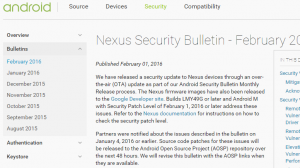 Android月例セキュリティアップデート(2016年2月)がリリース、「Broadcom Wi-Fiドライバにおけるリモートコード実行の脆弱性の修正」他