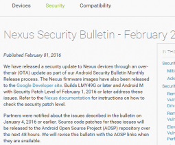 Nexus Security Bulletin - February 2016