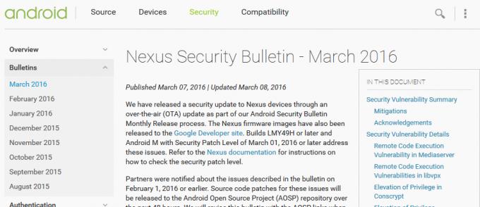 Nexus Security Bulletin - March 2016