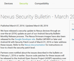 Nexus Security Bulletin - March 2016