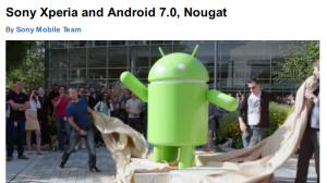ソニー、XperiaのAndroid 7.0 Nougatアップデート対象機種を発表 -Z3は対象外