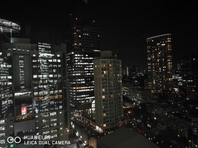 夜景もシャープにキマるのはP9ならでは