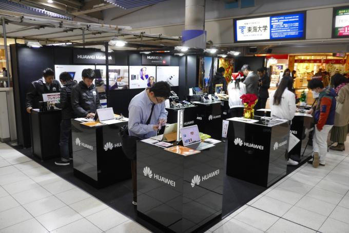 JR品川駅構内の会場の様子